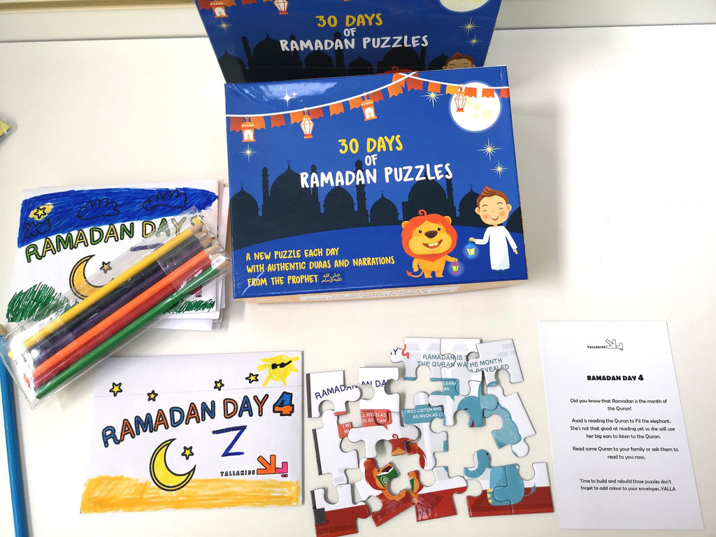 30 Days of Ramadan Puzzles (2021 Version)-Toys & Games-Yalla Kids-Crescent Moon Store