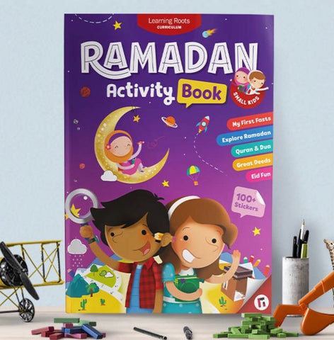 Ramadan Activity Book-Islamic Books-Learning Roots-Little Kids (5+)-Crescent Moon Store
