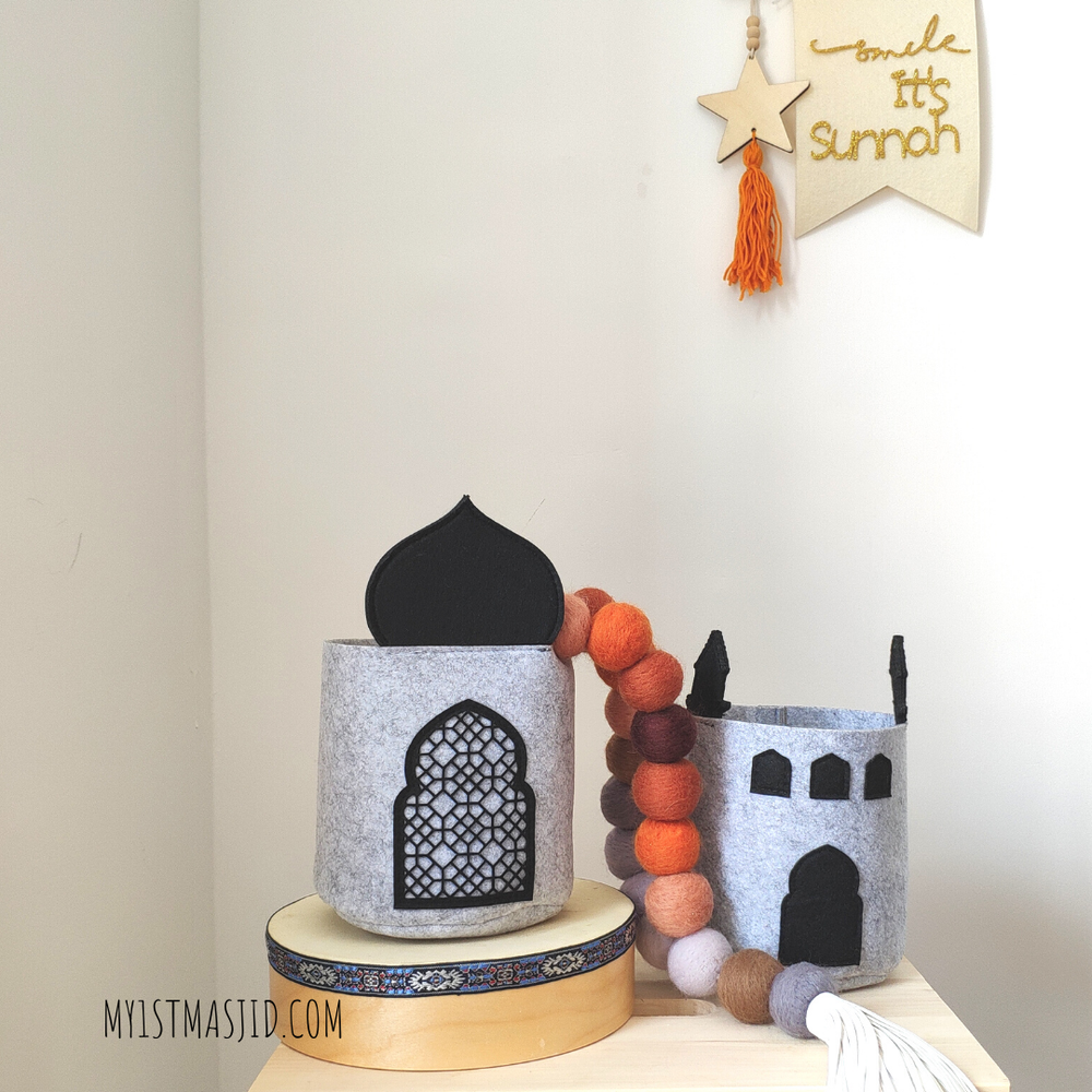 Masjid Basket (Set of 2)-Home Decor-My 1st Masjid-Crescent Moon Store