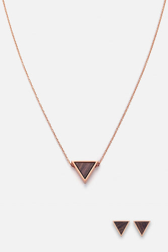 SCHMUCKSET TRIANGLE HALSKETTE OHRRING