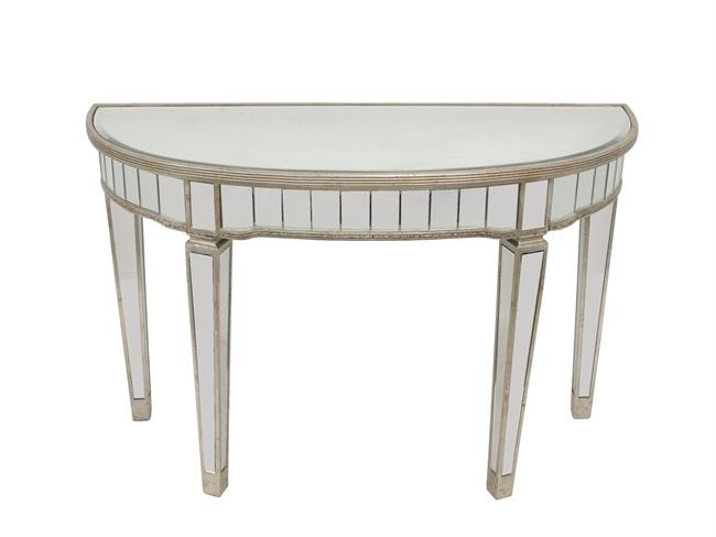 Mirror Half Circle Console Tables