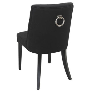 Large View Large View Large View Ophelia Ring Black Upholstered Dining Chair