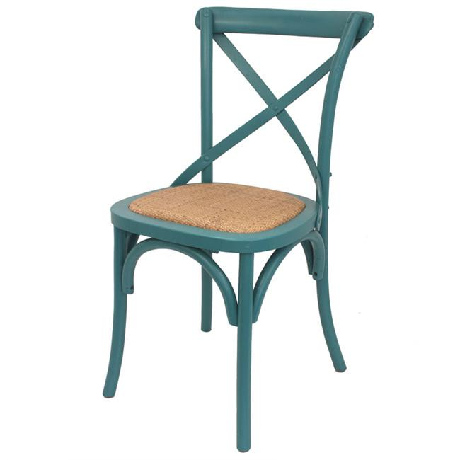 Crossback Dining Chair Teal