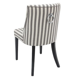 Ophelia Ring Striped Upholstered Dining Chairs