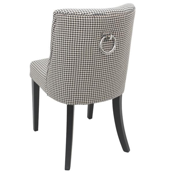 Ophelia Ring Houndstooth Upholstered Dining Chair