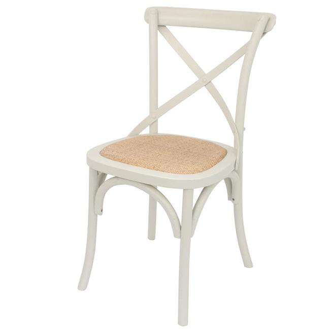 Cross Back Dining Chairs Rattan seat