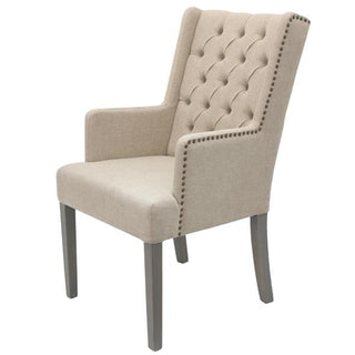 TAUPE Wing Tufted back ArmChair