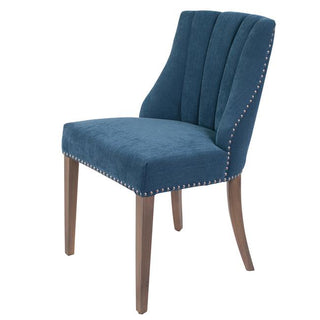 Stanton Dining Chair blue tufted panelled back