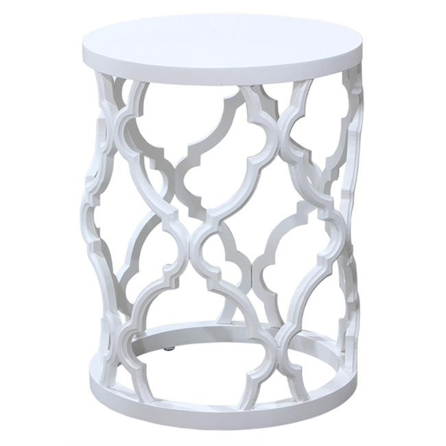 Marrekesh Side Table White