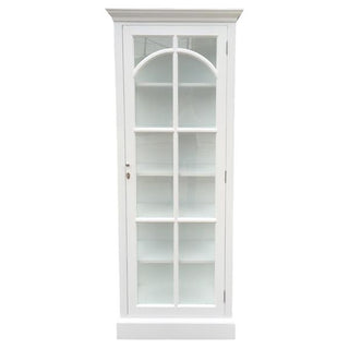 St Germaine 1 Door Display Case White 82x40x200cmh