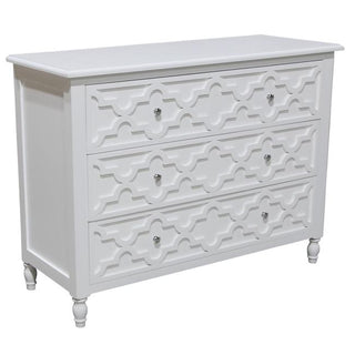Daintree 3 Drawer Chest White