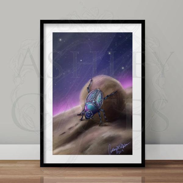 Scarab Beetle Full Art Print