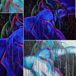Galaxy Girl Blacklight Painting Art