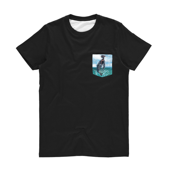 Water Dragon Classic Sublimation Pocket T-Shirt