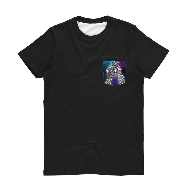 Cosmic Giraffe  Classic Sublimation Pocket T-Shirt