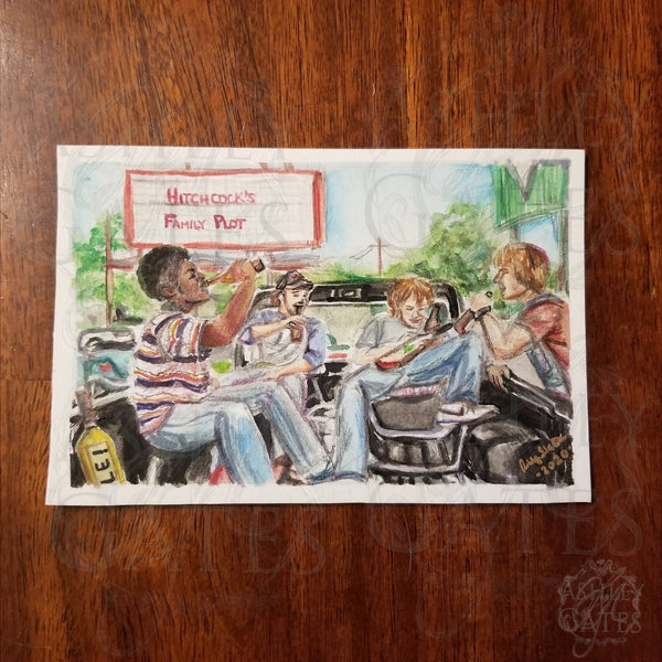 Dazed and Confused Mini Watercolor Art