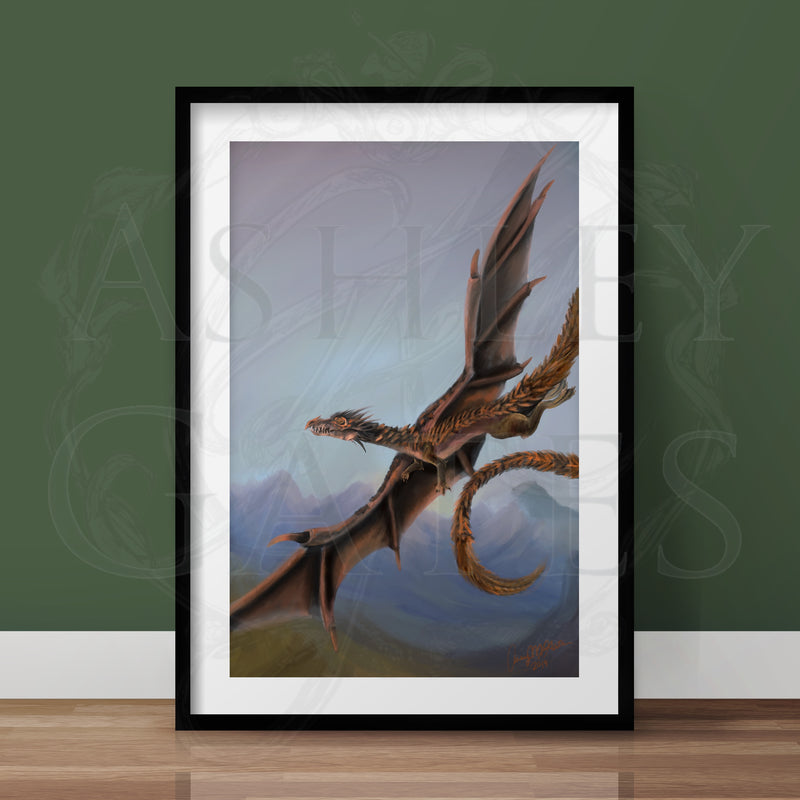 Flying 2/2 Dragon Token Full Art Print