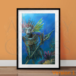 Merfolk Token Full Art Print