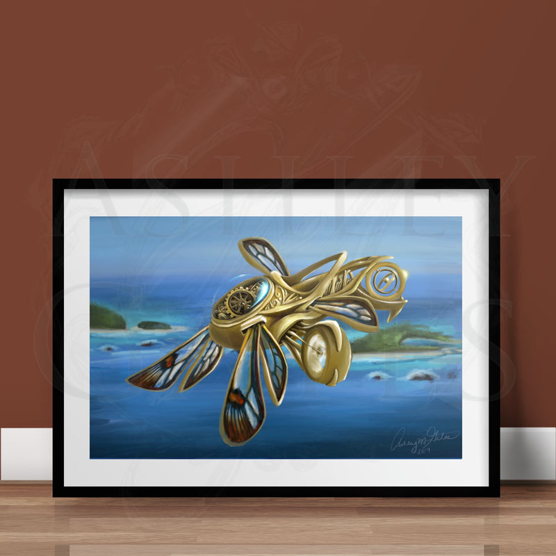 Flying Golden Thopter Print