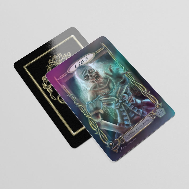 Borderless 2/2 Foil Zombie Token