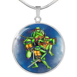 The Turtles Luxury Circle Pendant Necklace
