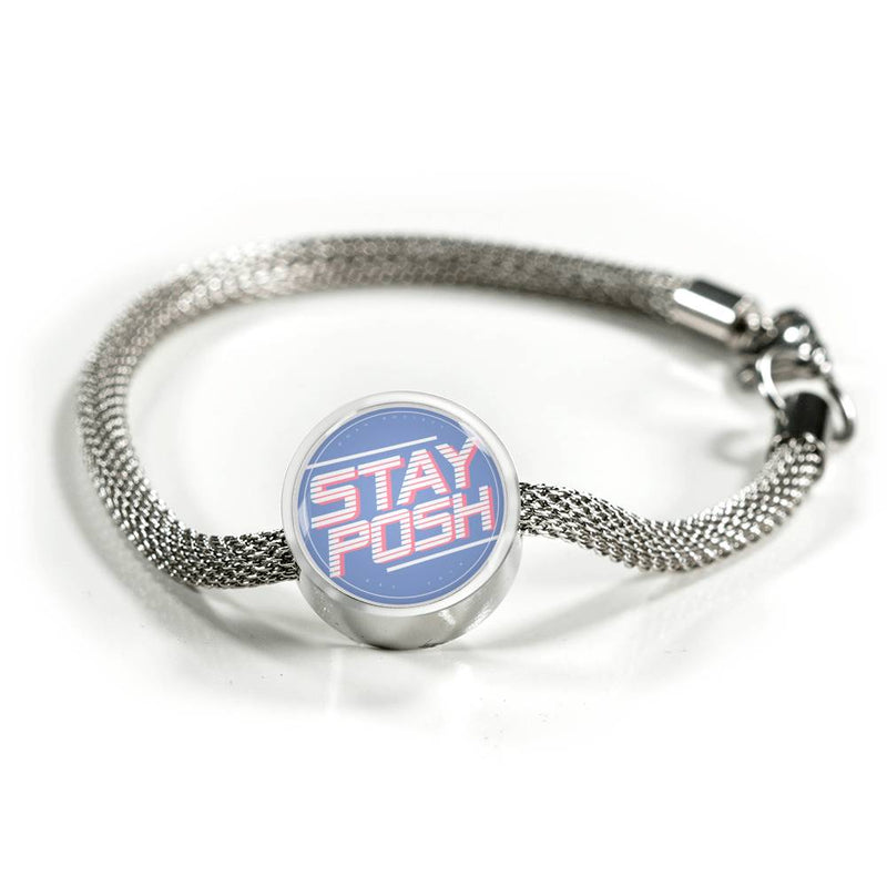 "Posh Society ""Stay Posh"" Luxury Surgical Steel Bracelet"