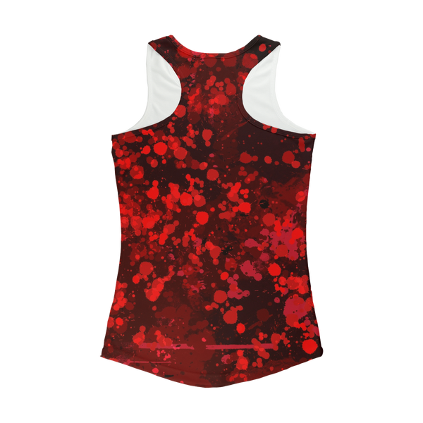 Dark Blood Splatter Women Performance Tank Top