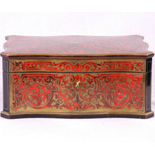 Load image into Gallery viewer, Boulle veneered box signed Tahan, FRANCE, C.1840