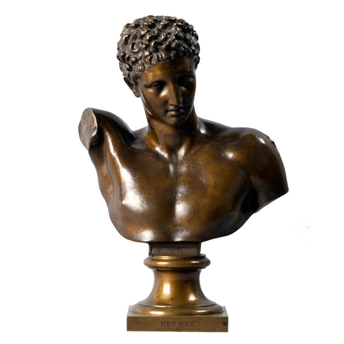 Bronze Bust of Hermes, France, c.1860