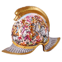Load image into Gallery viewer, Capodimonte Porcelain Helmet, Italy, c.1880