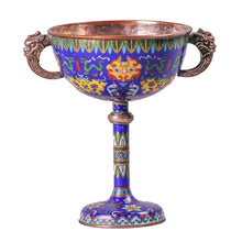 Load image into Gallery viewer, Antique Cloisonné Goblet, China, c.1850