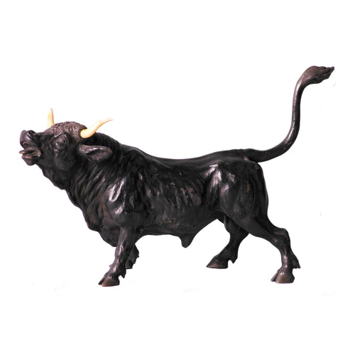 Antique Bronze Bull Sculpture from France