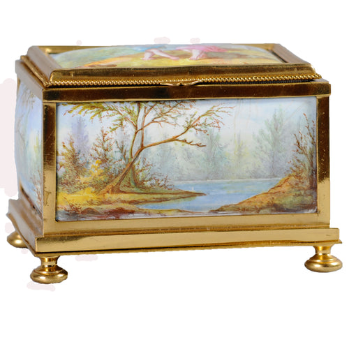 Viennese Enamel and ormolu box