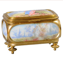 Load image into Gallery viewer, Antique Sevres and ormolu box