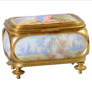 Antique Sevres and ormolu box