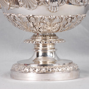 Large Elkington & Co. Sterling Silver Urn, England, c.1901