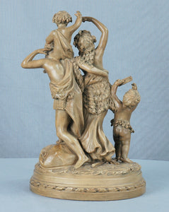 Terre Cotta Figural Group Signed Clodion, France, 19th Century