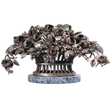 Load image into Gallery viewer, Steel or Iron basket of flowers, France, c.1910