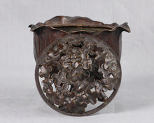 Load image into Gallery viewer, Bronze Cabbage Leaf Incense Burner, Japan, c.1875