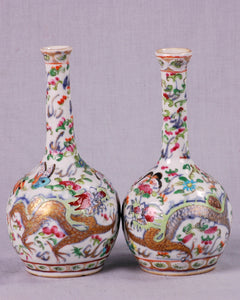 Pair Qing Dynasty Vases, China, c.1840
