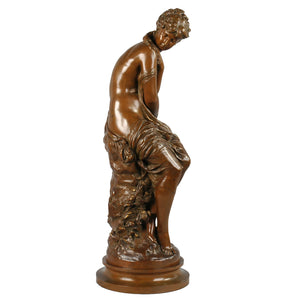 Bronze Sculpture of Venus at her bath by Mathurin Moreau, France, c.1860