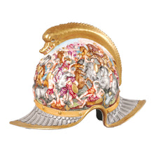 Load image into Gallery viewer, Capo di Monte Porcelain Helmet, signed, no damage or repair.  Italy, c.1880
