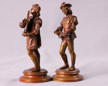 Load image into Gallery viewer, Pair of Bronze Musicians signed Guillot, France, c.1890