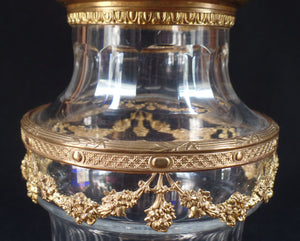 Daum Nancy Crystal Vase, Signed, France, c.1900