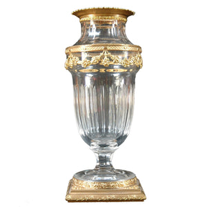 Antique Daum Nancy Crystal Vase, Signed, France, c.1900