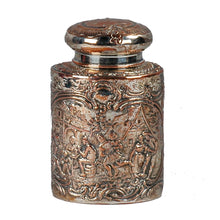 Load image into Gallery viewer, Antique Silver plate Tea Caddy