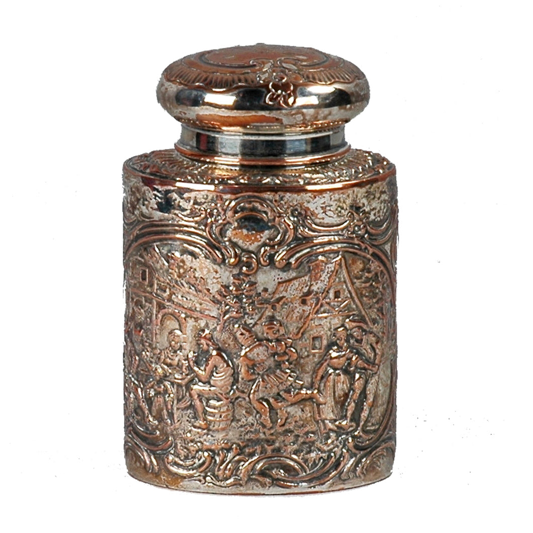 Antique Silver plate Tea Caddy