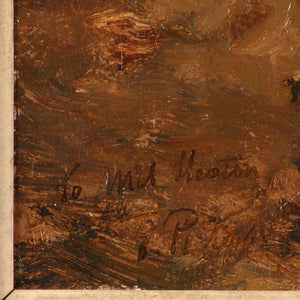 Oil painting on wooden panel, signed Evert Pieters, Dutch, c.1880