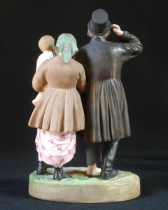 Gardner biscuit porcelain figure group 'The Drunken Husband' Russia, c.1890