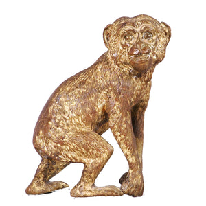 Gilt Bronze Monkey, France, c.1900